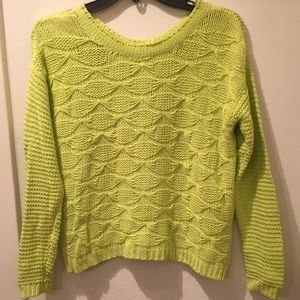 Lime green Jessica Simpson crew neck sweater